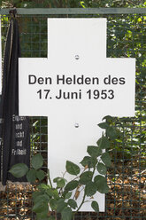 Germany, Berlin, memorial plaque for Uprising of 1953 in East Germany - CM000160