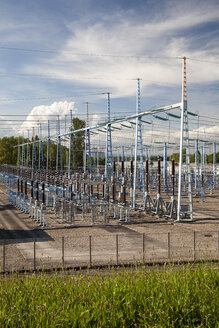 France, Alsacem Haut-Rhin, Neuf-Brisach, electricity substation - WI000969