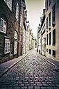 Germany, Schleswig-Holstein, Luebeck, old town, alley Kleine Petersgrube - KRPF001029