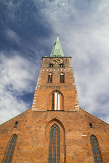 Germany, Lubeck, Tower clock at St Jacobi Church - KRPF001037