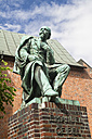 Germany, Lubeck, Emanuel Geibel Monument at Koberg - KRPF001038