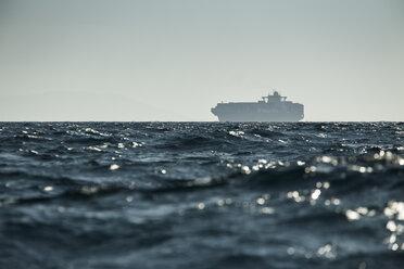 Spain, Andalusia, Tarifa,  Cargo ship - KBF000172