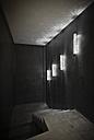 Morocco, Fes, Hotel Riad Fes, dark staircase - KMF001458