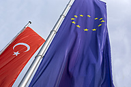 Turkish and EU flag - EJW000595