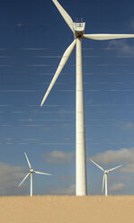 Spain, Andalusia, Tarifa, Wind farm and overland lines - KBF000169