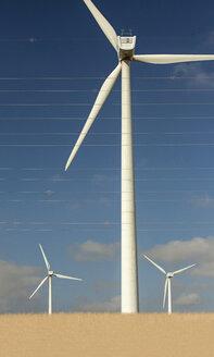 Spain, Andalusia, Tarifa, Wind farm and overland lines - KBF000169
