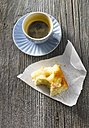 Cup of espresso and butter cake - KSWF001328