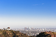 USA, California, Los Angeles, Skyline, Griffith Observatory and tourists - FOF006961