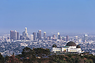 USA, California, Los Angeles, Skyline and Griffith Observatory - FOF006992