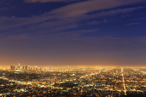 USA, California, Los Angeles, Cityscape, Blue hour - FO007004