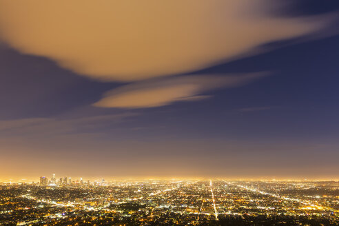 USA, California, Los Angeles, Cityscape, Blue hour - FOF007005