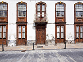 Spain, Canary Islands, La Palma, Los Llanos de Aridane, Plaza de Espana, Old building - AMF002821