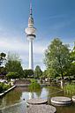 Germany, Hamburg, Planten un Blomen park and Heinrich-Hertz TV tower - CSTF000414