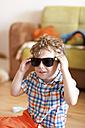 Portrait of little boy with sunglasses - AFF000088