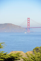 USA, California, San Francisco, view from Lands End to Golden Gate Bridge - BRF000697