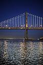 USA, California, San Francisco, Oakland Bay Bridge at night - BRF000774