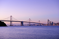 USA, California, San Francisco, Oakland Bay Bridge in morning light - BRF000777
