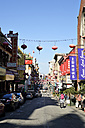 USA, California, San Francisco, Grant Avenue in Chinatown with Chinese lanterns - BRF000685