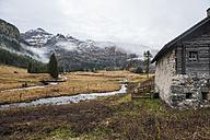 Austria, Salzburg State, Untertauern, alpine landscape in November - HHF004871