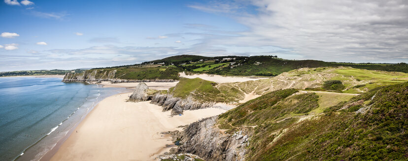 United Kingdom, Wales, Gower Peninsula, Three Cliffs Bay, Area of Outstanding Natural Beauty - DISF001001