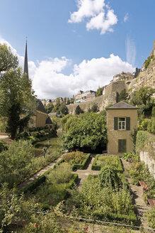 Luxembourg, Luxembourg City, Garden below Casemates du Bock - MSF004224