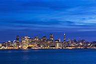 USA, California, San Francisco, Skyline in the evening - FOF007052