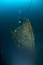 Croatia, Cres, Wreck diving at wreck Lina - ZCF000174