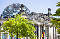 Germany, Berlin, Reichstag building with glass roof dome - PSF000648