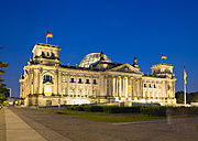 Germany, Berlin, Reichstag building illuminated at night - PSF000652