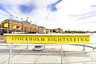 Sweden, Stockholm, Old town, sign Stockholm Sightseeing - PUF000062