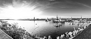 Sweden, Stockholm, View from Monteliusvaegen at sunset - PU000066