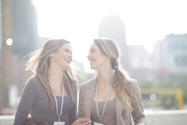 Two smiling businesswomen - ZEF000239