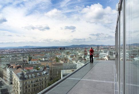 Austria, Vienna, cityscape from Haus des Meeres observation platform - WE000228