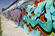 Germany, Berlin, Friedrichshain, graffities at East Side Gallery - WI001030