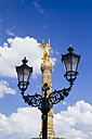 Germany, Berlin, Berlin-Tiergarten, Great Star, Berlin Victory Column and street lamp - KRPF001119