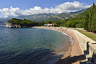 Montenegro, Crna Gora, bay and beach at the luxury hotel of Milocer - ES001364
