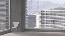 Chair in a room of a modern office building, 3D Rendering - UWF000171