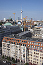 Germany, Berlin, Berlin-Mitte, Gendarmenmarkt, View to Berlin Cathedral, Berlin TV Tower and Red City Hall - WIF001058