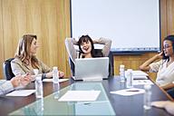 Businesswomen talking in boardroom - ZEF000876