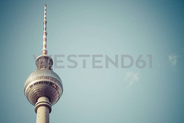 Germany, Berlin, view to upper part of television tower - KRPF001132