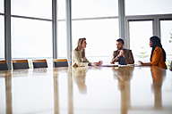 Three people at business meeting - ZEF000879