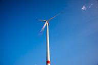 Germany, Tomerdingen Windpark, Rotating windturbine - WGF000460