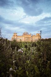 Germany, Berlin, Berlin-Tiergarten, Reichstag building in the evening - KRPF001141