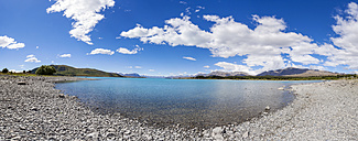 New Zealand, South Island, Lake Tekapo, panorama - WVF000646