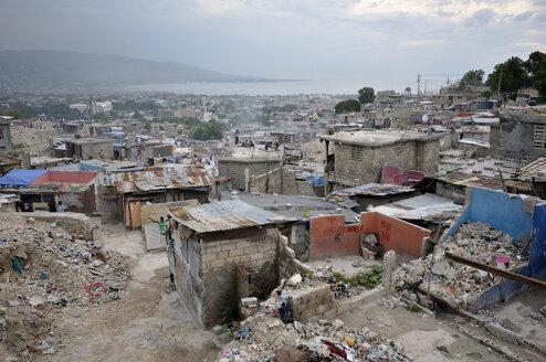 Haiti, Port-au-Prince, Deprived area at Fort National - FLK000453