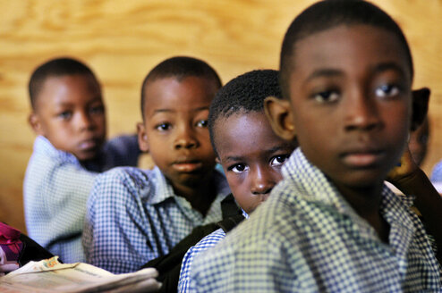 Haiti, Leogane, Boys at school - FLK000459