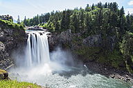 USA, Washington State, Snoqualmie, Snoqualmie River, Snoqualmie Falls - FOF007185