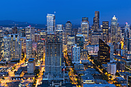 USA, Washington State, Seattle, Cityscape, Blue hour - FOF007129