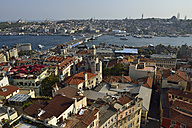 Turkey, Istanbul. Beyoglu, Bosphorus, View from Galata-Tower to Ueskuedar, Galata bridge and Golden horn - ES001419