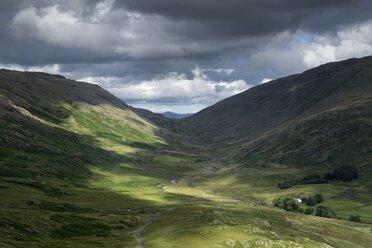United Kingdom, England, Cumbria, Hardknott Pass, Eskdale Valley - ELF001296